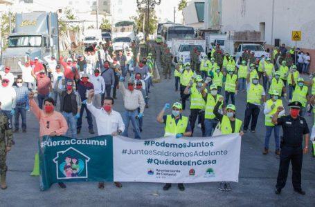 PONE EN MARCHA PEDRO JOAQUÍN ENTREGA DE DESPENSAS EN 20 MIL CASAS DE COZUMEL