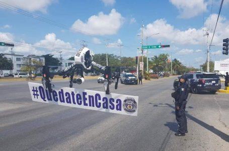 "EXHORTA POLICÍA DE QUINTANA ROO A CIUDADANOS QUE SE ""QUEDEN EN CASA"""