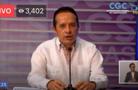 HABRÁ NUEVO PLAN DE REACTIVACIÓN ECONÓMICA PARA QUINTANA ROO: CARLOS JOAQUÍN