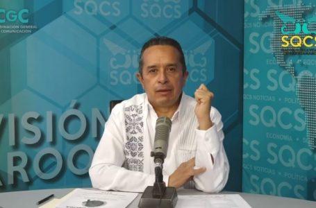 "PERMANECERÁ SEMÁFORO EPIDEMIOLÓGICO EN ""AMARILLO"" EN TODO QUINTANA ROO : CARLOS JOAQUÍN"