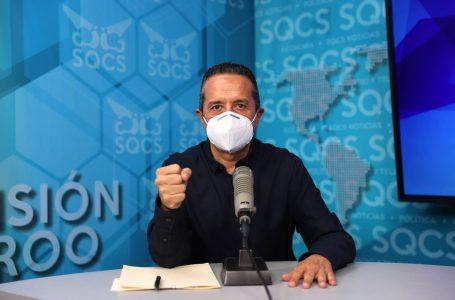 URGE CARLOS JOAQUÍN A NO RELAJAR MEDIDAS SANITARIAS ANTE TENDENCIA A SUBIR A COLOR NARANJA EN SEMÁFORO EPIDEMIOLÓGICO