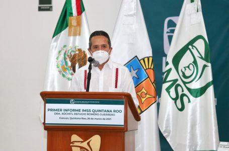 RECONOCE CARLOS JOAQUÍN LABOR DEL PERSONAL MÉDICO DEL IMSS POR SALVAR VIDAS CON DEDICACIÓN, PATRIOTISMO Y SOLIDARIDAD