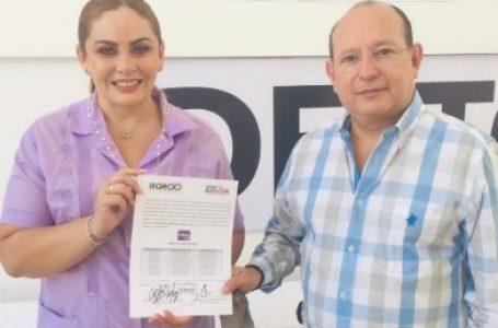 RECIBE LUPITA ALCOCER CONSTANCIA PARA CONTENDER COMO CANDIDATA DEL PES POR LA ALCALDÍA DE BJ