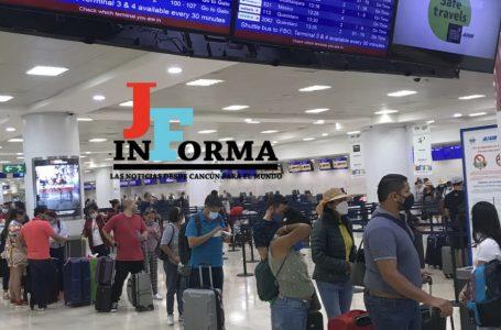AEROPUERTO DE CANCÚN REGISTRA 419 OPERACIONES PROGRAMADAS ESTE VIERNES
